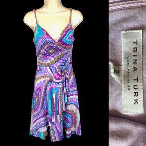 TRINA TURK Silk Knit Dress Size 2